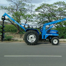 Tractor Crane with Hydraulic Post Hole Digger